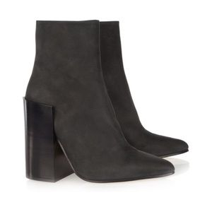 ACNE Black Leather Tess Ankle Boots 36 6